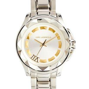 Karl Lagerfeld | '7' Faceted Bezel Bracelet Watch